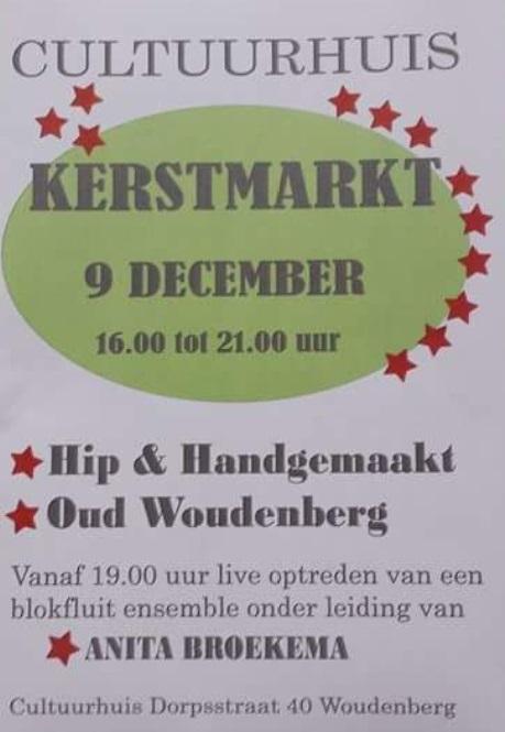 Optreden Kerstmarkt in Cultuurhuis Woudenberg