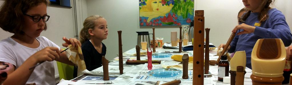 Blokfluitolie-uurtje bij Kunst en Cultuur Woudenberg
